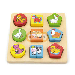 Shape Block Puzzle - Farm Animals