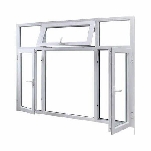 Rectangular White Aluminum Window Frame, Rs 250 /square feet ...
