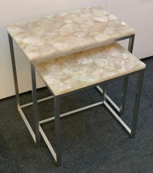 Rose quartz table set
