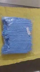 Blue Non Woven Disposable Buffant Cap