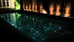 Fiber Optic Lighting In Swimming Pool or ponds
