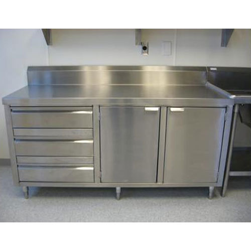 Stainless Steel Cabinets For Kitchen: Stainless Steel Silver Commercial Kitchen Cabinet