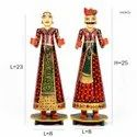 Handcrafted Wooden Hand Painted Gangaur Isar, Size 25 Inch