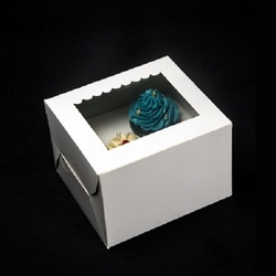 2Sp Two Cupcake Box with Window & Insert