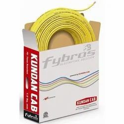 Yellow Copper Fybros Kundan Cab Electrical Wire, Insulation Thickness: 1-2 Mm, Packaging Type: Roll