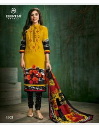 TF Regular Wear Deeptax Printed Ladies Cotton Dress Material