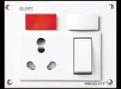 Press Fit - Glory 5-in-1 6/16 Amp. Universal Switch Socket Combined