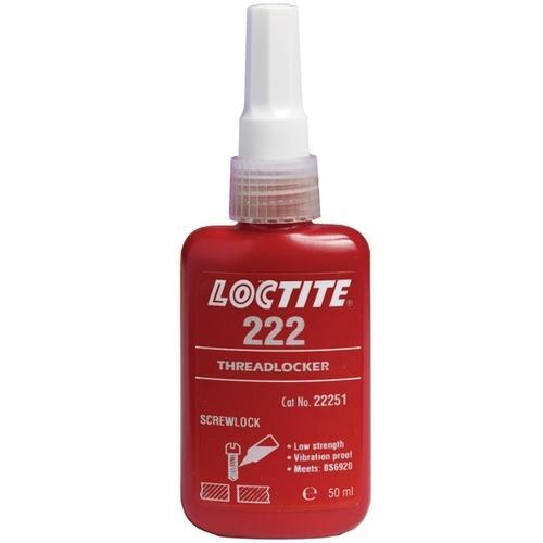 Industrial Grade Loctite 222, Packaging Type: Bottle, 50 Ml
