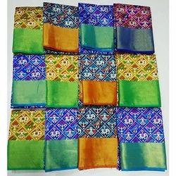 Multicolor Designer Silk Saree, 6.3 M (with Blouse Piece)