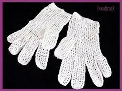 Cotton String Knit Gloves, Size: 8-10 Inch