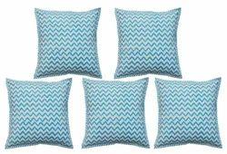 Canvas Hand Block Printed Cotton Cushion Cover Pillow