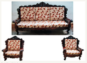 Multicolor Red Leaf Printed Sofa Set