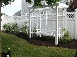 White Garden Swing