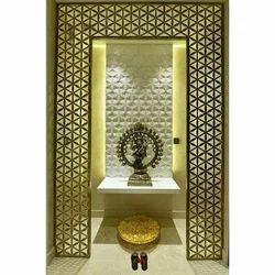 Pooja Cabinet Glass, Shape: Rectangle