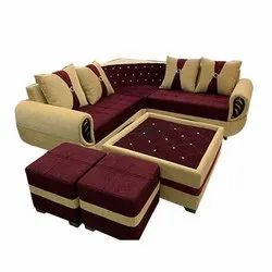 6 Seater Hotel L Shape Sofa Set