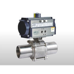 Pneumatic Actuator But Weld Ball Valve