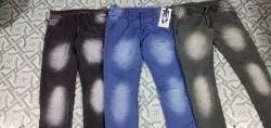 Dobby Plain Mens Jeans