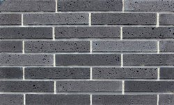 Articlad Aggregate Travertino Cladding Brick, Size: 11.8  x 2 Inch (+/-6mm)