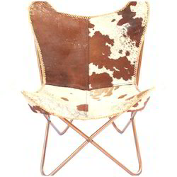 BKF Hair On Leather Butterfly Chair