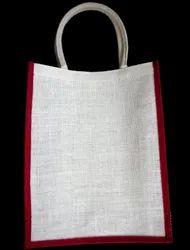 Red Gusset Jute Bag