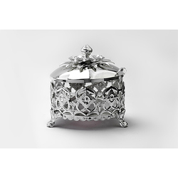 Melange Silver-Plated Sugar Pot With Spoon