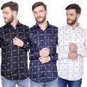 FnX Men's Satin Printed Full Sleeves Casual Shirt