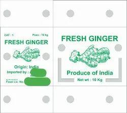 Plastic Corrugated box for Ginger