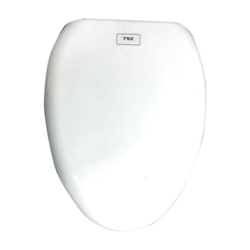 White Anglo Indian Plastic Toilet Seat Cover