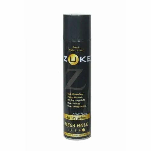 Zuke Mega Hold Hair Spray, for Holding The Hair