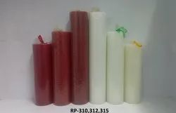 RP-310, 312, 315 Round Cylindrical Pillar Candles (1 Pc / Pkt)