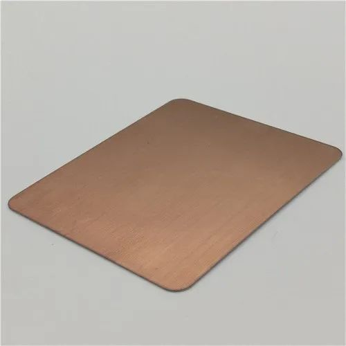 202 Plate Copper Hairline Stainless