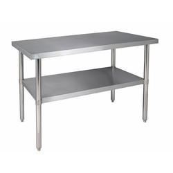 Silver Color Steel Double Rack Table