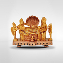 Brass Mantra Gold Plated Vishnu With Lakshmi