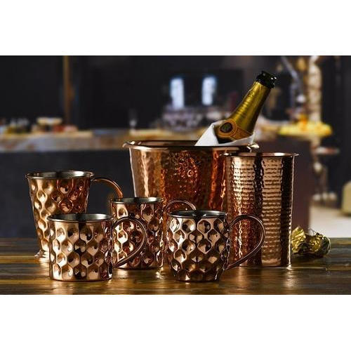 stylish barware set at rs 3500 /set | copper bar accessories | id