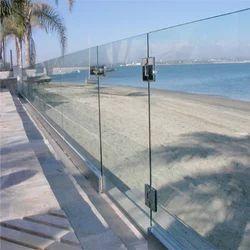 Panel Aluminum Frameless Railing, For Balconies,Deck