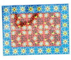 Multicolor Glossy Ceramic Tile Mural 24 x 18 inch