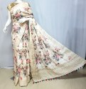 Linen Handloom Printed Saree