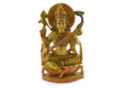 Handmade Resin Idol of Godess Lakshmi Hand Painted