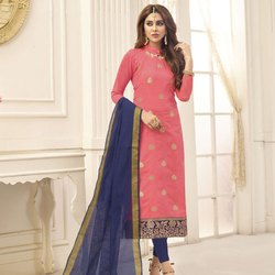 Zari Woven Jacquard Dress Material