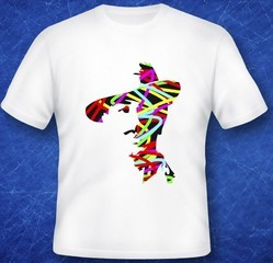 imported Multi Color PRINTED SPORTS T-SHART