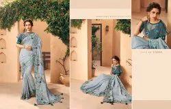 Kessi Bridal Wear Embroidered Saree