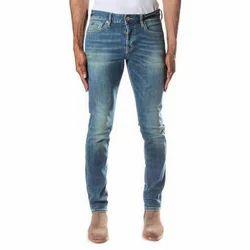 Denim Faded Regular Slim Fit Jeans