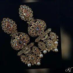 Brass Traditional Artificial Earrings