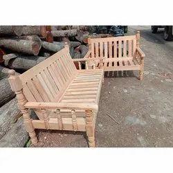 Natural Rectangular Solid Wood Sofa Set, For Home,Hotel etc