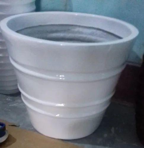 Round Fiber Flower Pot