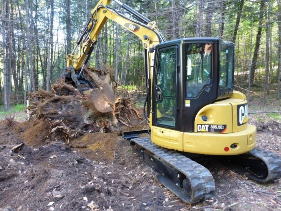 CAT 305 5E2 CR Mini Hydraulic Excavator, 5 ton, 45 7 hp