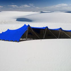 Blue Bedouin Stretch Tents