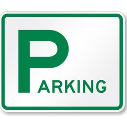 Rectangular Parking Informative Sign Board