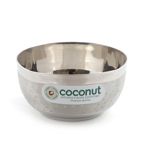 Silver Coconut C25 Stainless Steel Shower Apple Bowl, Packaging Type: Box
