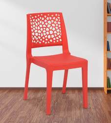 Plastic Red Nilkamal Nexus Chair